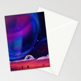Lunar walk Stationery Cards