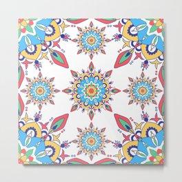 Multiple Colour Moroccan Tile Pattern Metal Print
