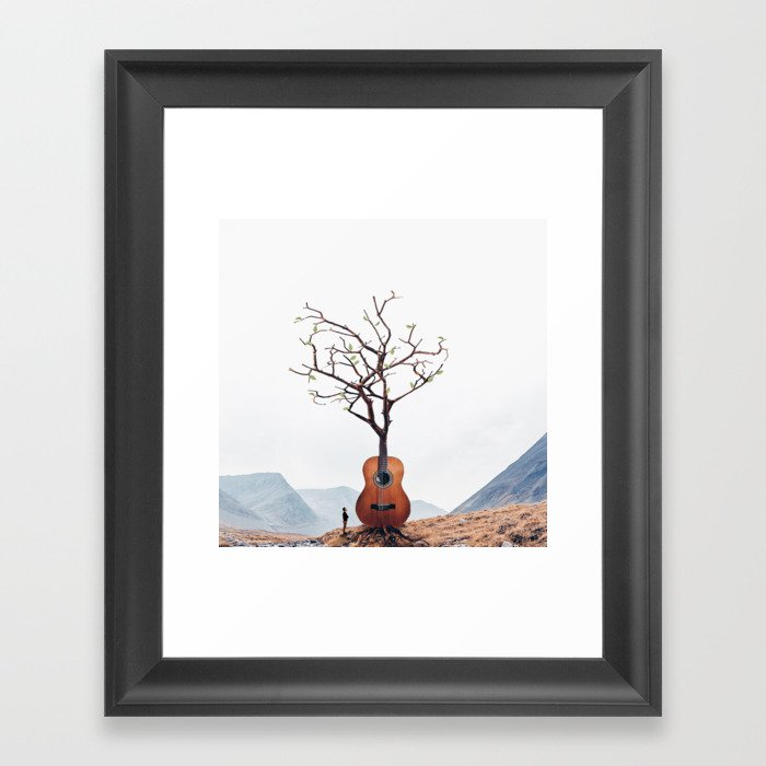 Guitar Tree Gerahmter Kunstdruck