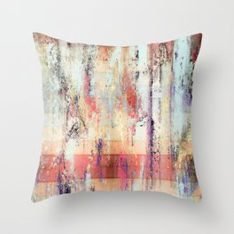 Earth Wood and Stone Modern Art Design Throw Pillow