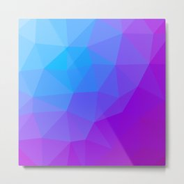 geometric triangle pattern blue purple Metal Print