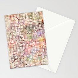 Milwaukee map Wisconsin Stationery Cards