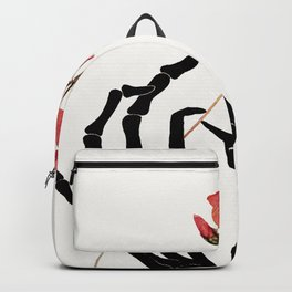 Skeleton Hand with Flower Backpack
