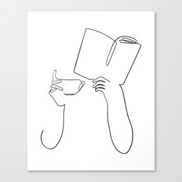 Book & Coffee Canvas Print