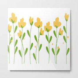 Flowers Nature Seamless Pattern Metal Print