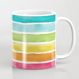 Watercolor Rainbow Stripes Coffee Mug