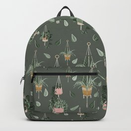 Modern Boho Macrame Plant Hangers Pattern Green Backpack