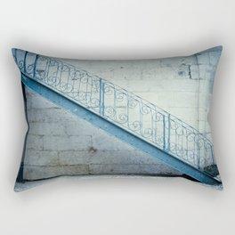 The blue stairs Rectangular Pillow