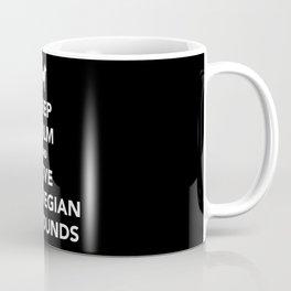 Keep calm and love Norwegian Elkhounds Coffee Mug