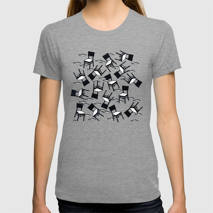 chairs and fishes T-shirt