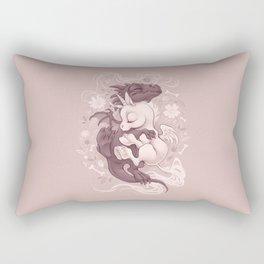 Dragon and Unicorn Rectangular Pillow