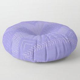 Periwinkle Geo Floor Pillow