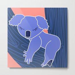 Love Planet Love Animals Koala Sleeping Metal Print