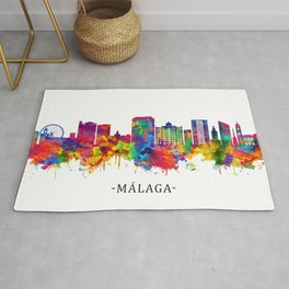 Malaga Andalusia Skyline Rug