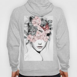 WOMAN WITH FLOWERS 10 Hoodie