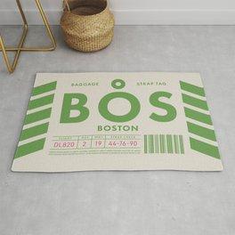 Baggage Tag D - BOS Boston USA Rug