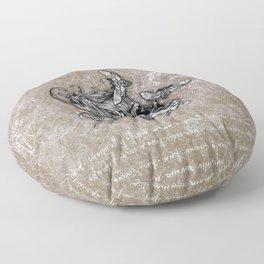 Human Skull Floor Pillow