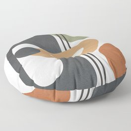 Modern Abstract Shapes 12 Floor Pillow