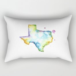 Texas Watercolor Map - State Map Art - Watercolor Maps Rectangular Pillow