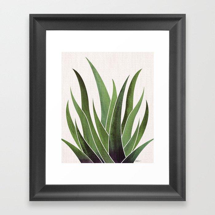 Vintage Agave / Desert Succulent Gerahmter Kunstdruck