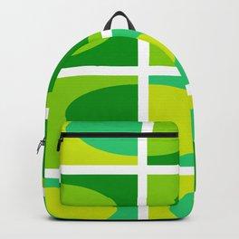 Vivid green shades. Fresh geometric pattern.  Backpack