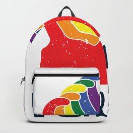 Purride LGBT Gaypride Rainbow Cat Gift Backpack