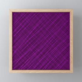 Cross ornament of their pink threads and iridescent intersecting fibers. Framed Mini Art Print