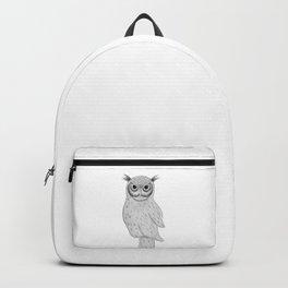 Owl | Hand drawn illustration art |  Backpack