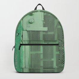 GREEN WOODEN DOOR WITH GREEN STEEL DOOR LEVER Backpack