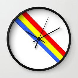 Flag of romania 4 -romania,romanian,balkan,bucharest,danube,romani,romana,bucuresti Wall Clock