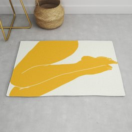 Nude in yellow 3 Rug