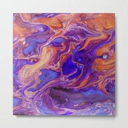 Fluid Color Metal Print