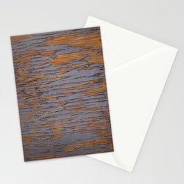 peeling paint on wood Stationery Cards