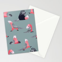 Pastel parrots Stationery Cards