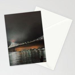San Francisco Bay Bridge at Night Stationery Cards