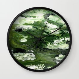 Abstract Acrylic Painting THE FOREST Wall Clock