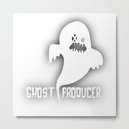 Ghost Techno Producer Metal Print