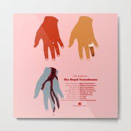 The Royal Tenenbaums Hand Design Metal Print
