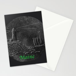 Maine Lighthouses Stationery Cards