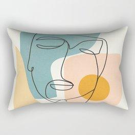 Abstract Face 25 Rectangular Pillow