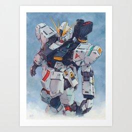 Nu Gundam watercolor Kunstdrucke