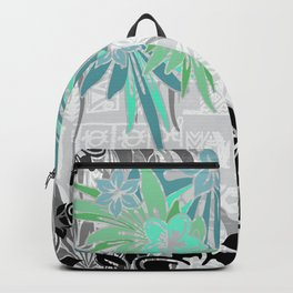 Hawaiian Teal Tropical Backpack