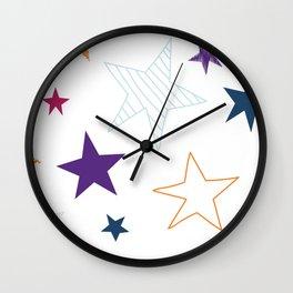 Fun Galaxy Stars Wall Clock