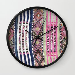 Malatya Kurdish  Antique Turkish Flatweave Rug Wall Clock
