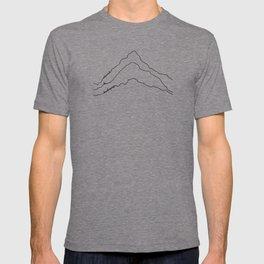 Tallest Mountains in the World B&W / Mt Everest K2 Kanchenjunga / Minimalist Line Drawing Art Print T-shirt