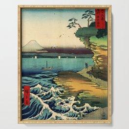 Hiroshige - 36 Views of Mount Fuji (1858) - 36: The Hota Coast in Awa Province Serving Tray