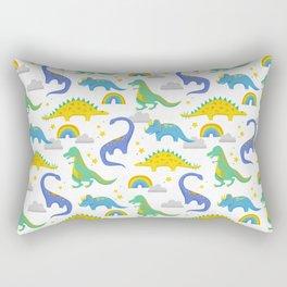 Dinosaurs + Rainbows Rectangular Pillow