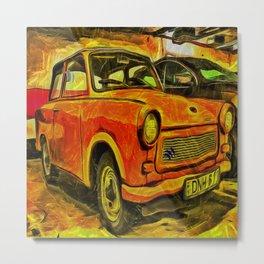 Trabant Art Metal Print