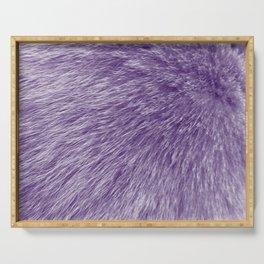 Lollipop Purple Fur Serving Tray