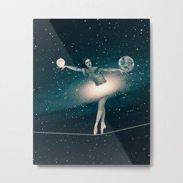 The Cosmic Game of Balance or Universe Ballerina Metal Print